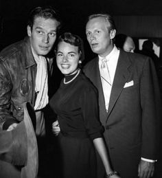 At a premiere with Charlton Heston and Richard Widmark