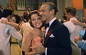 With Fred Astaire. DADDY LONG LEGS