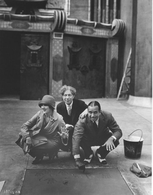 With Mary Pickford and Douglas Fairbanks