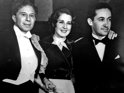 with Norma Shearer and Irving Thalberg