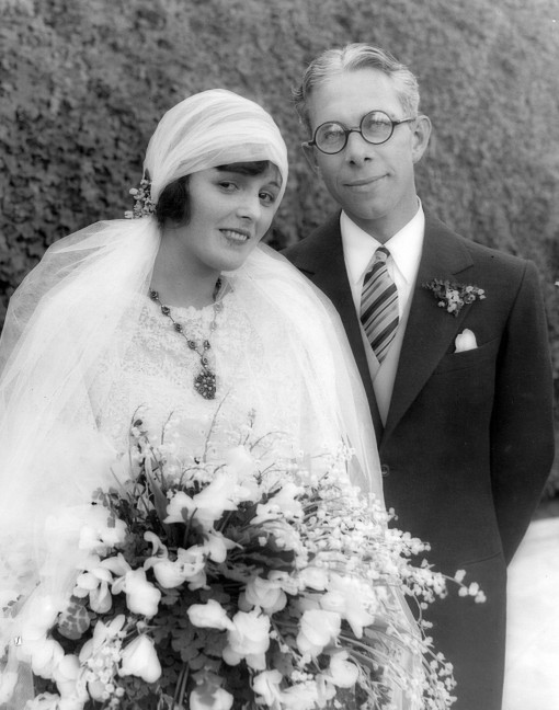 Mary and her first husband Kenneth Hawks