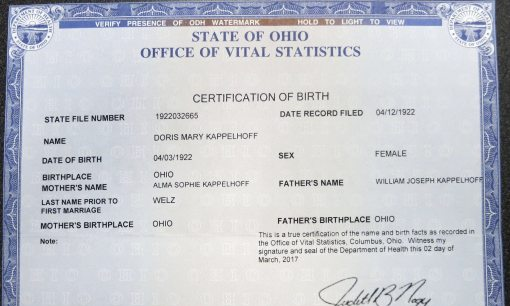 Columbus Ohio Birth Certificate - Best Design Sertificate 2018