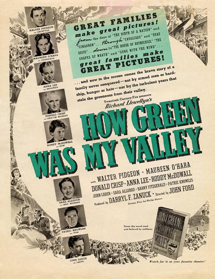 PHOTO OF THE DAY: HOW GREEN WAS MY VALLEY   Vienna's Classic Hollywood